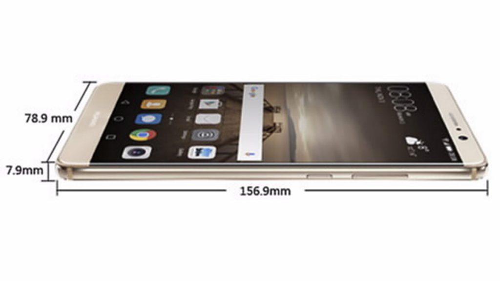 Huawei Mate 9 各サイズ - Huawei サイトから転載